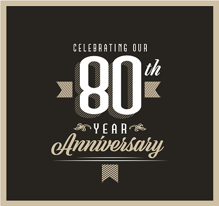 Vector illustration of a Retro and Vintage Year Anniversary Label design beige and black color. Includes vector eps 10 and high resolution jpg.