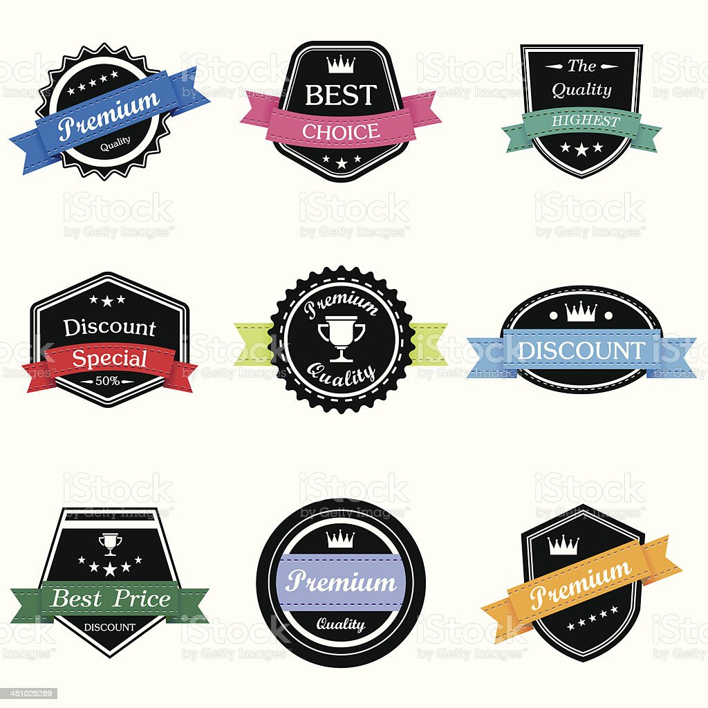 Retro And Vintage Labels royalty-free retro and vintage labels stock vector art & more images of abstract