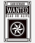 Retro and vintage wanted poster design