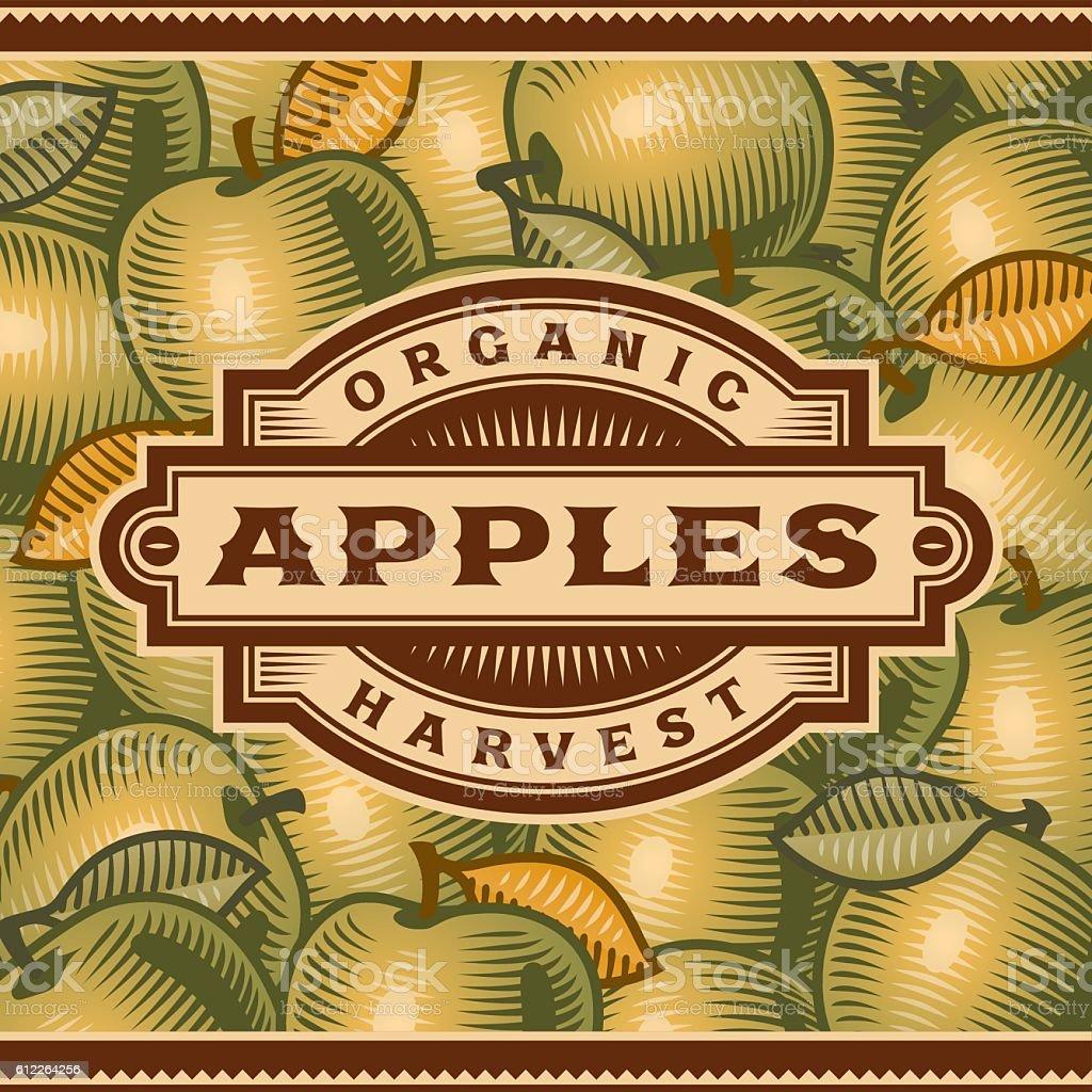 Retro Apple Harvest Label vector art illustration