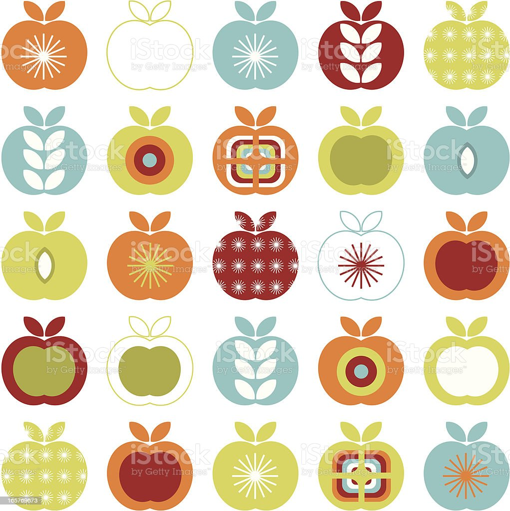 Retro apple pattern royalty-free retro apple pattern stock vector art & more images of 1960-1969