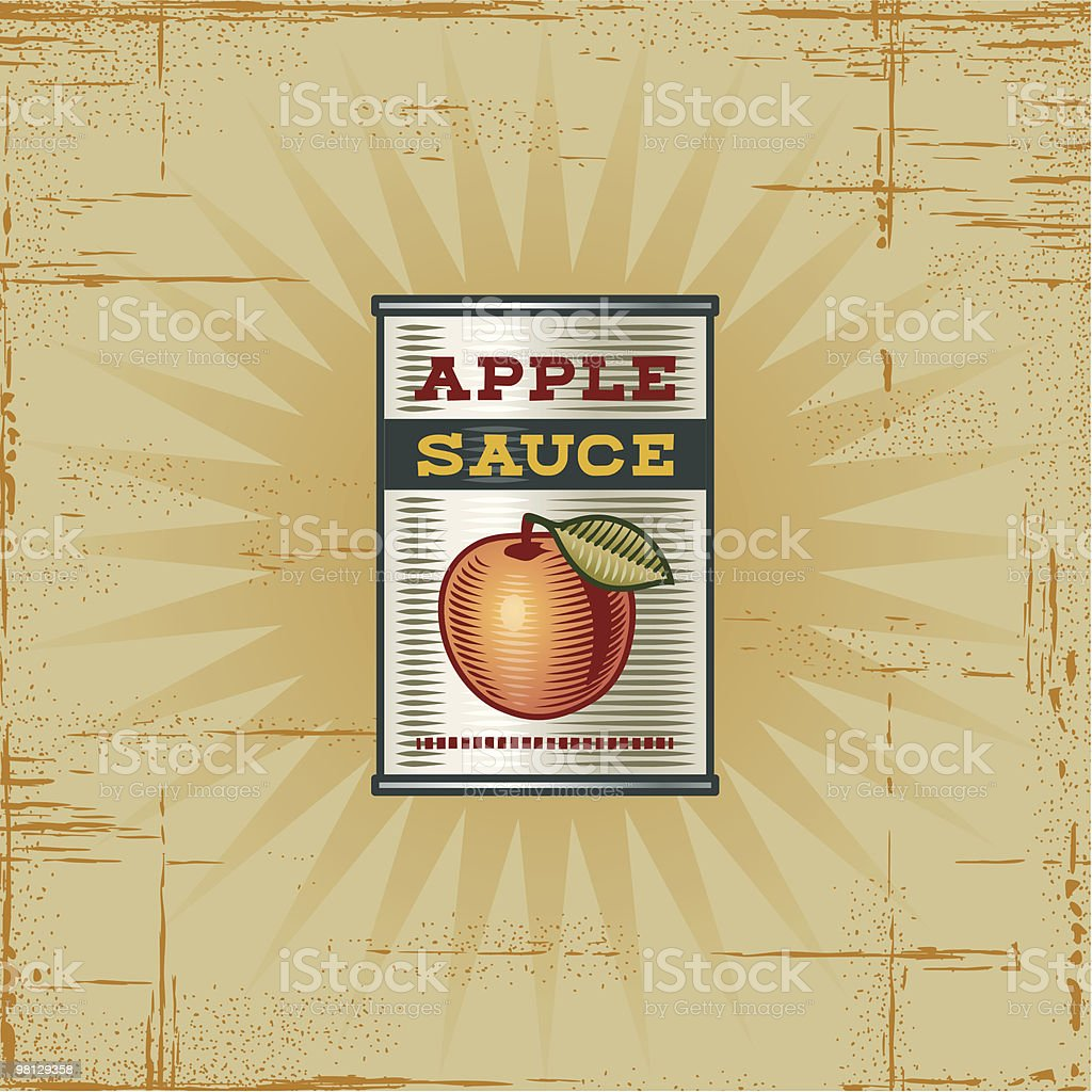 Retro Apple Sauce Can royalty-free retro apple sauce can stock vector art & more images of apple - fruit
