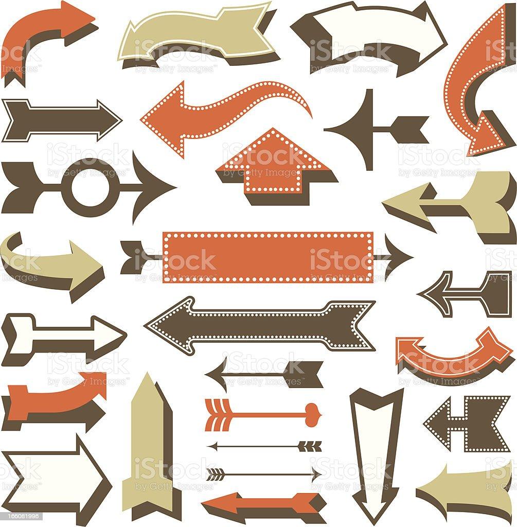 Retro Arrow Designs royalty-free stock vector art