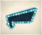3D retro arrow, vintage banner. Illustration contains transparency and blending effects, eps 10