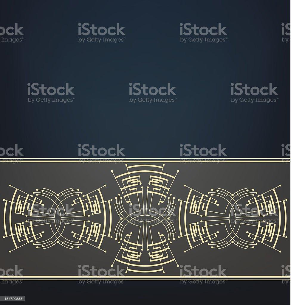 Retro Art Deco stylized background royalty-free stock vector art