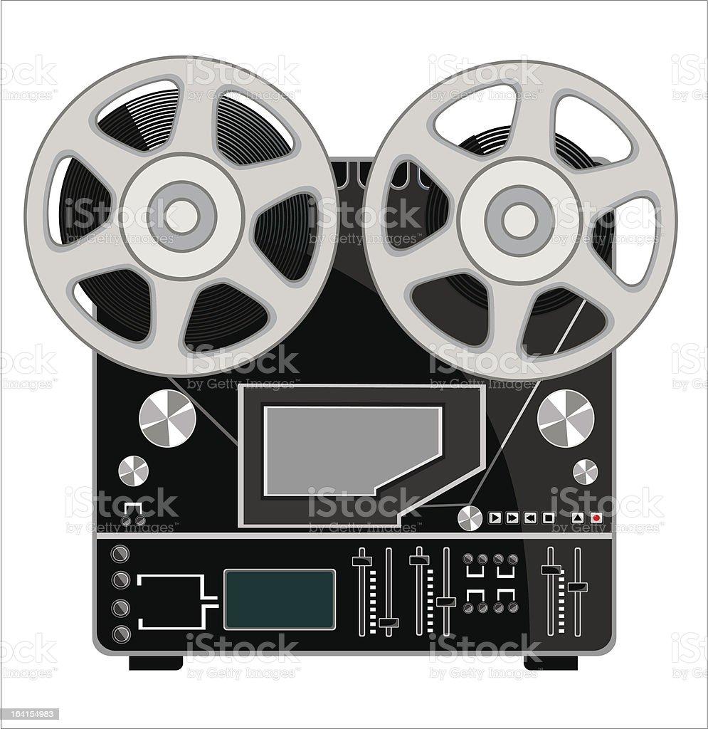 Retro Audio Tape Recorder royalty-free stock vector art