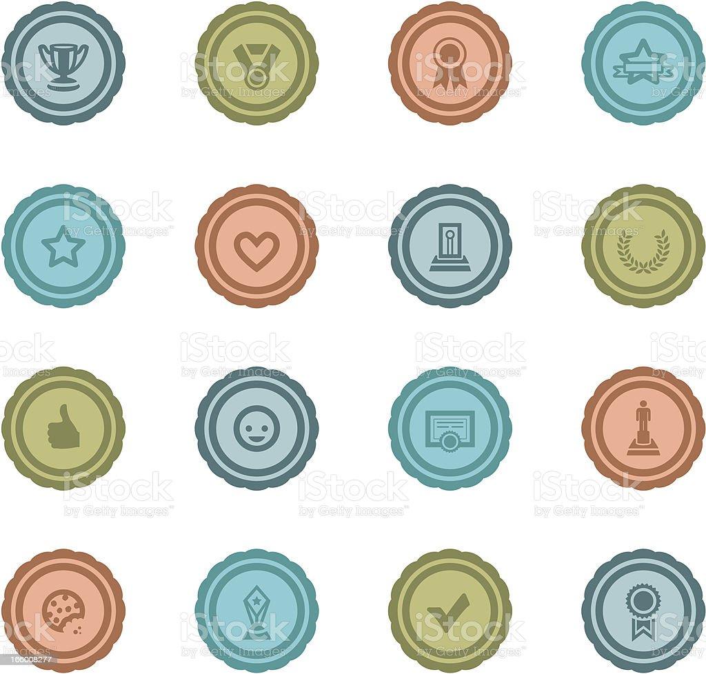 Retro Award Badges vector art illustration