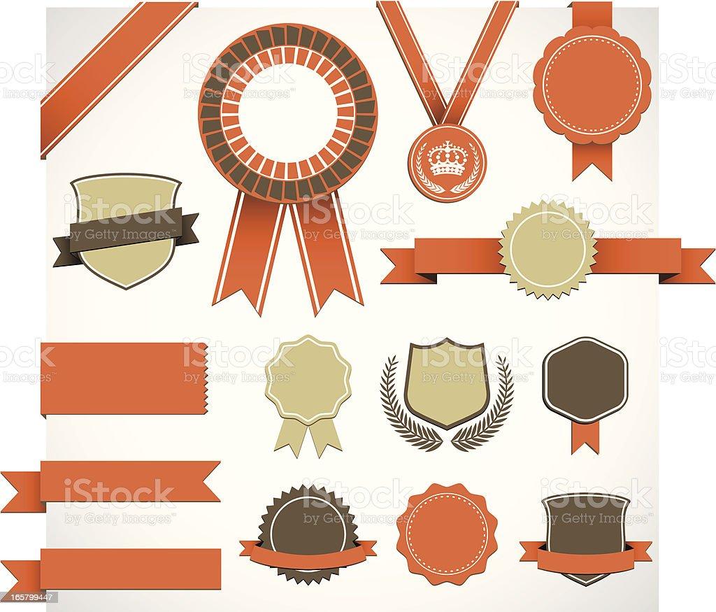 Retro Award Elements Set royalty-free stock vector art