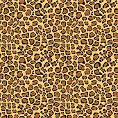 Retro background, leopard skin
