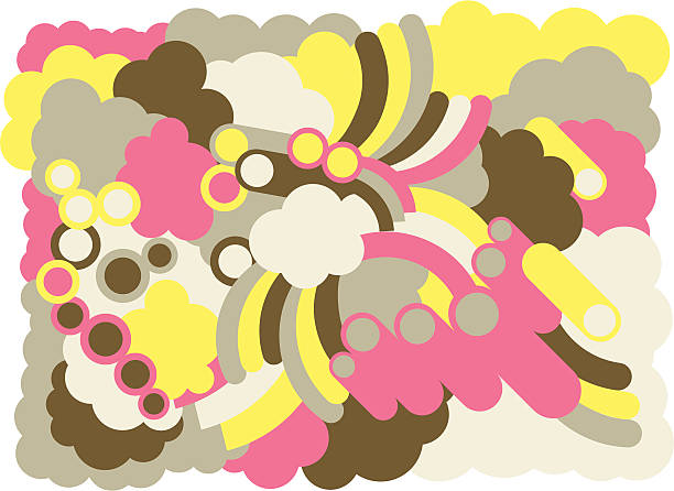 retro hintergrund - lustige schnecken stock-grafiken, -clipart, -cartoons und -symbole