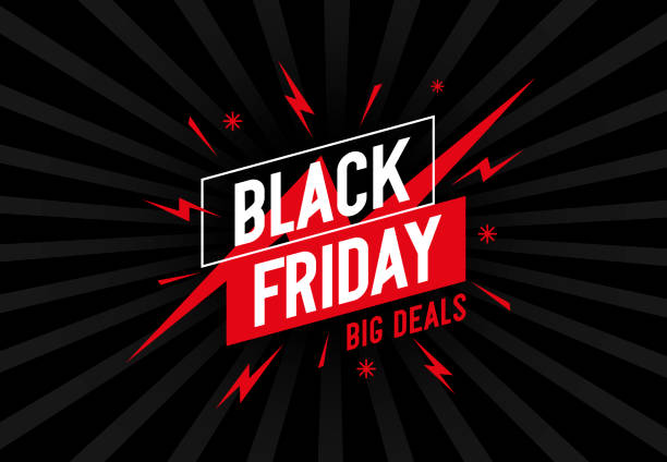 Retro background with design and text Black Friday. Retro background with design and text Black Friday. For Black Friday promotion in posters, flyers, banners, advertisements. Attractive and cool design. Vector illustration. black friday sale stock illustrations