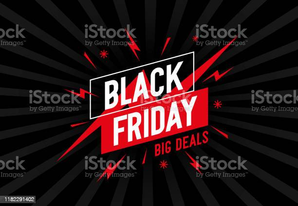 Retro Background With Design And Text Black Friday Stock Illustration - Download Image Now