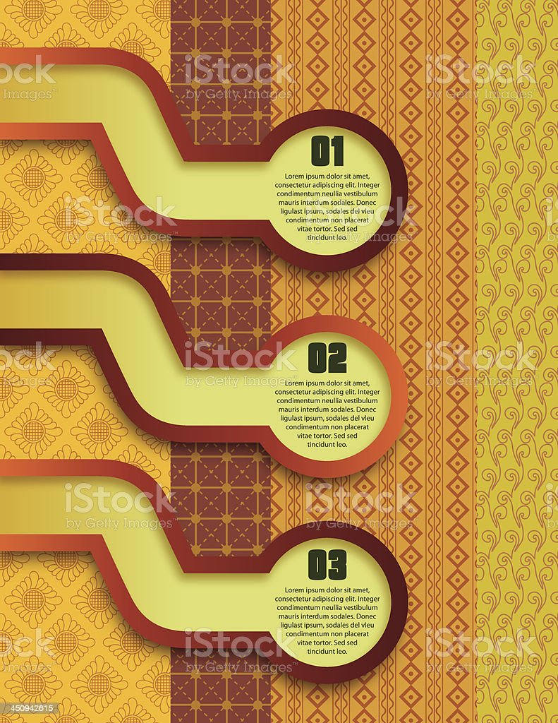 Retro Background With Option Tabs royalty-free stock vector art
