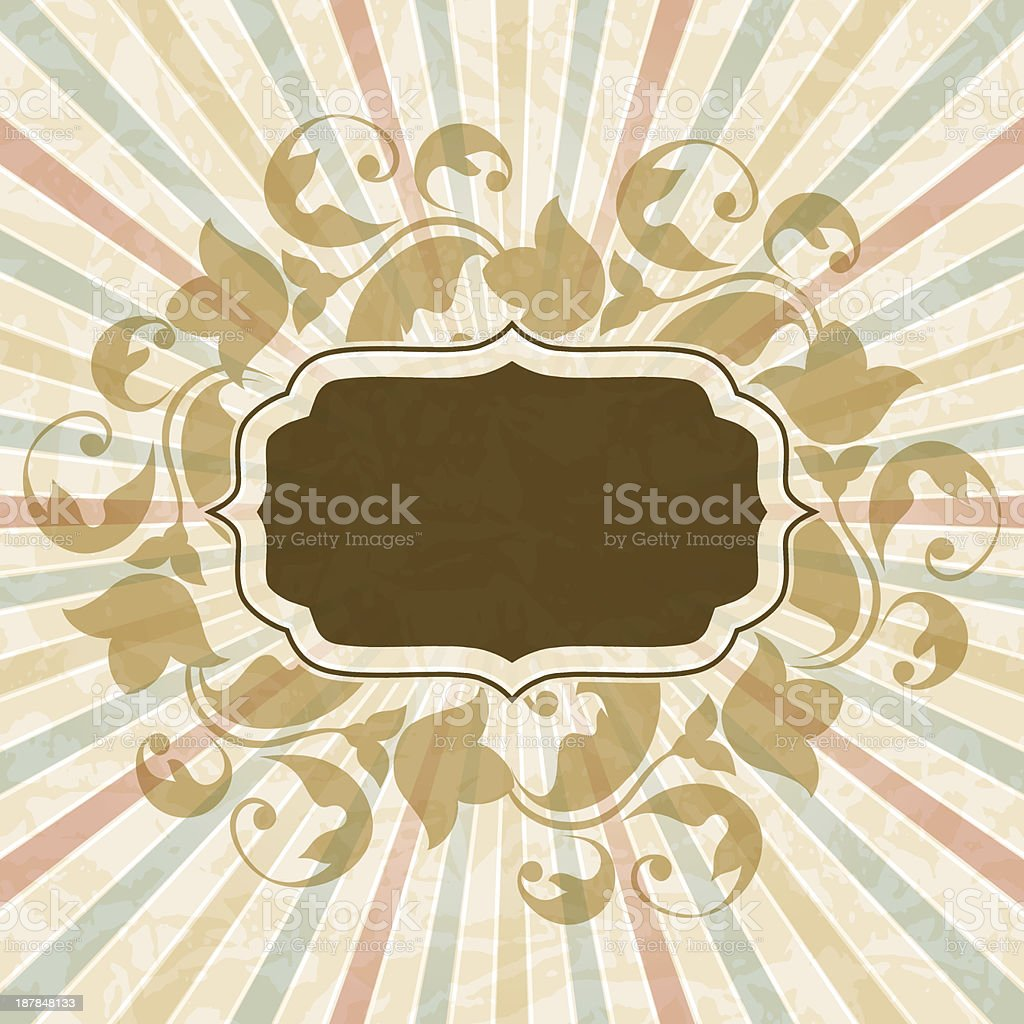 Retro background with vintage floral ornate frame. royalty-free retro background with vintage floral ornate frame stock vector art & more images of abstract