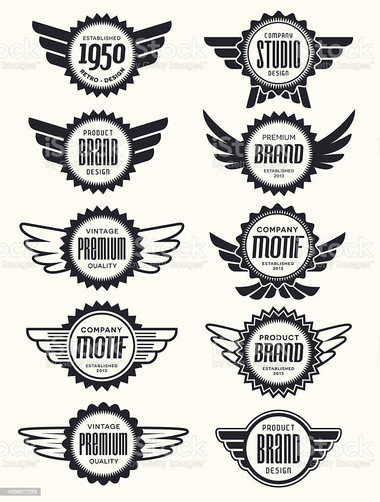 Retro Badge Collection Set vector art illustration