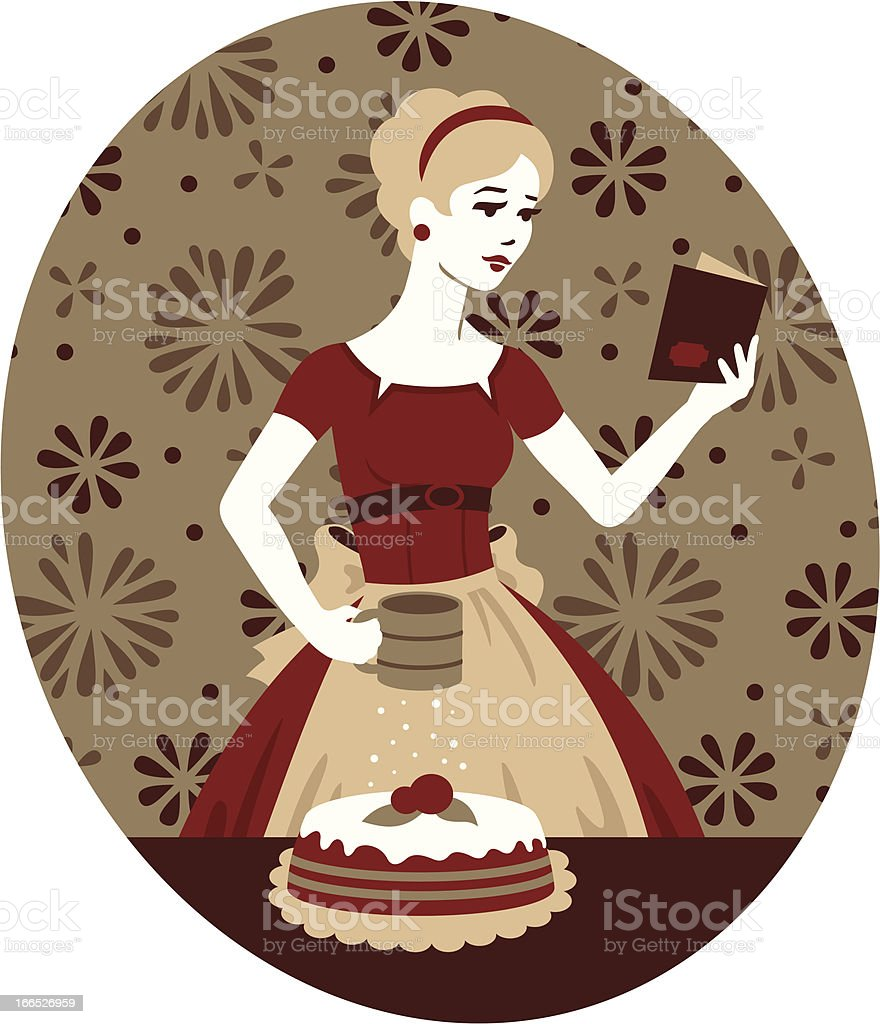 Retro Baking vector art illustration