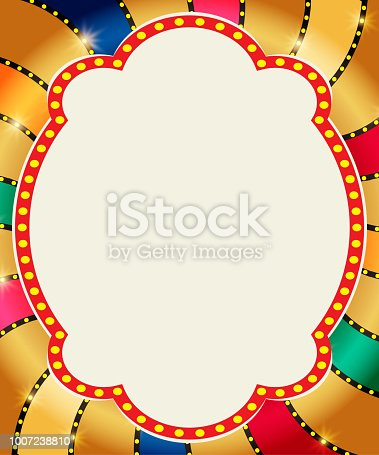 931079952 istock photo Retro banner on colorful shining background 1007238810