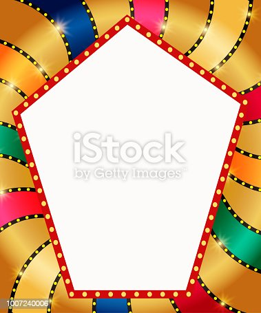 931079952 istock photo Retro banner on colorful shining background 1007240006