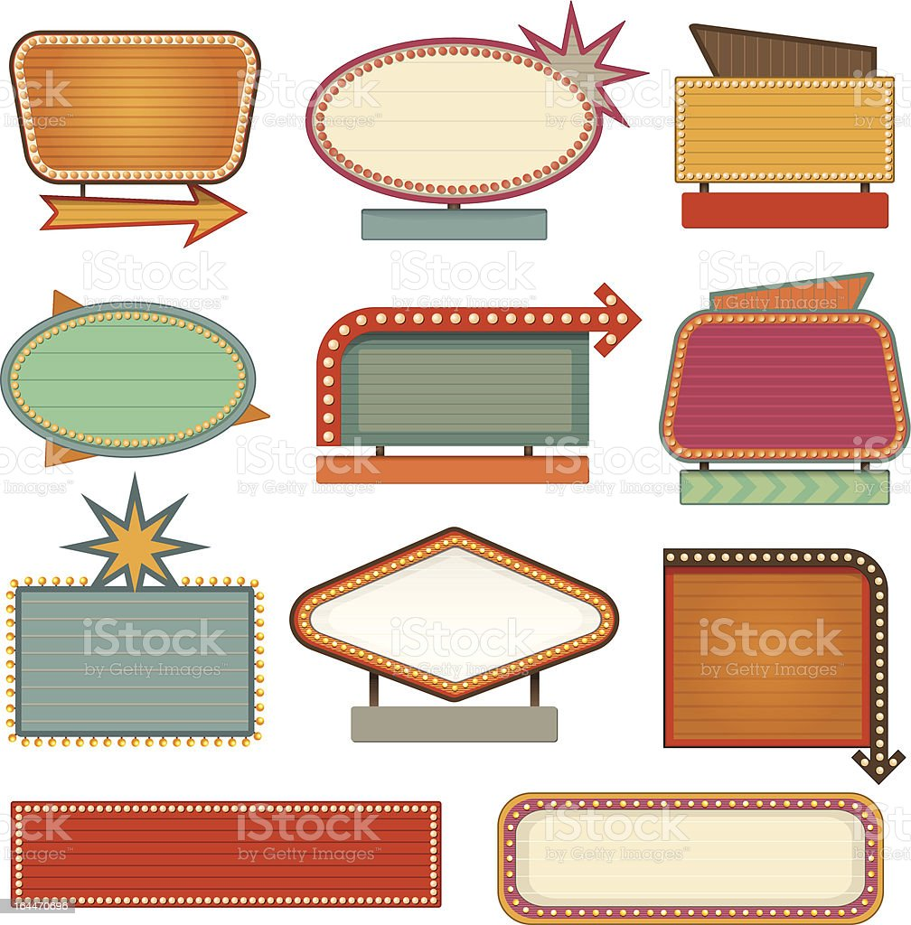 Retro banner sign vector art illustration