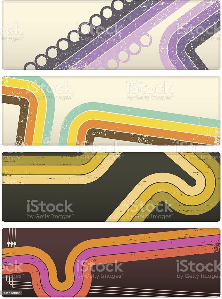 Retro Banners vector art illustration