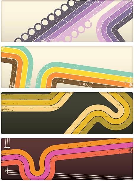 retro banery - szałowy stock illustrations