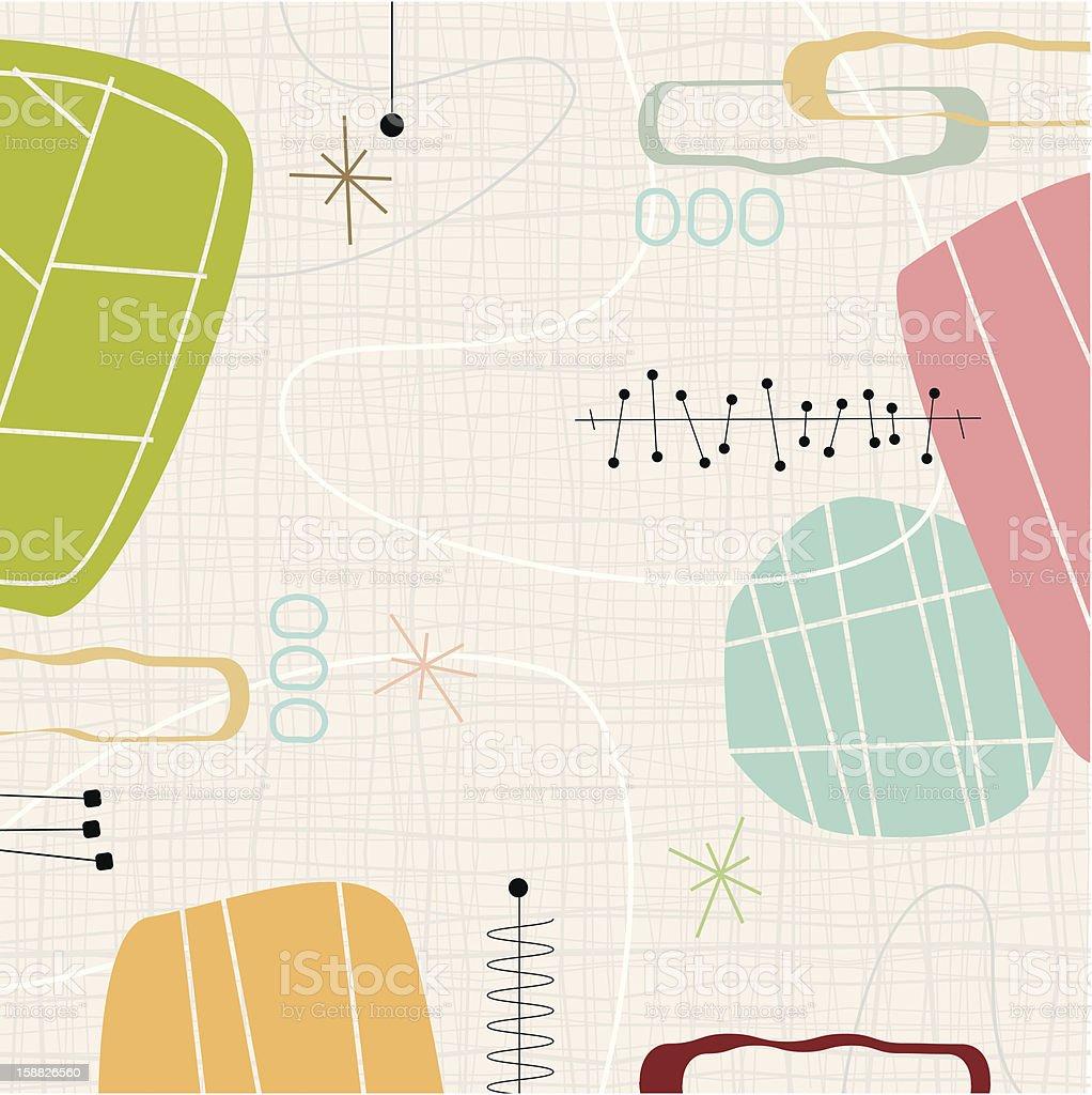 Retro Barkcloth Weave (Vector) vector art illustration