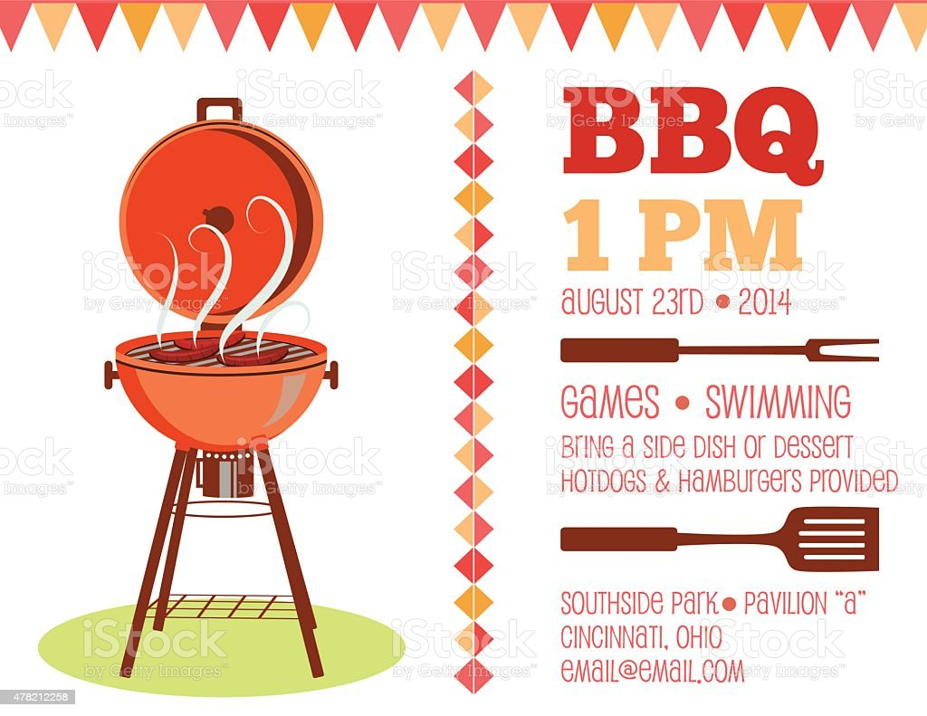 retro bbq invitation template stock vector art more images of 2015
