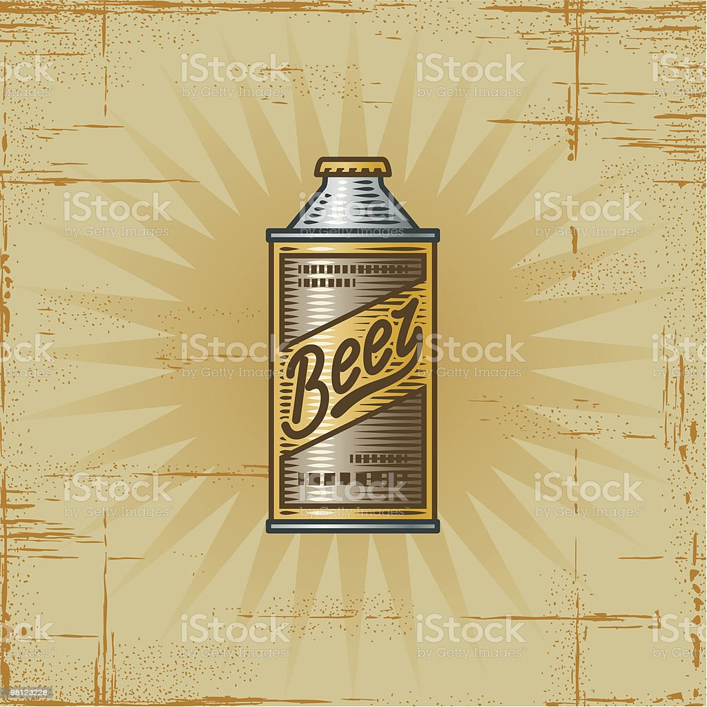 Retro Beer Can royalty-free retro beer can stock vector art & more images of alcohol