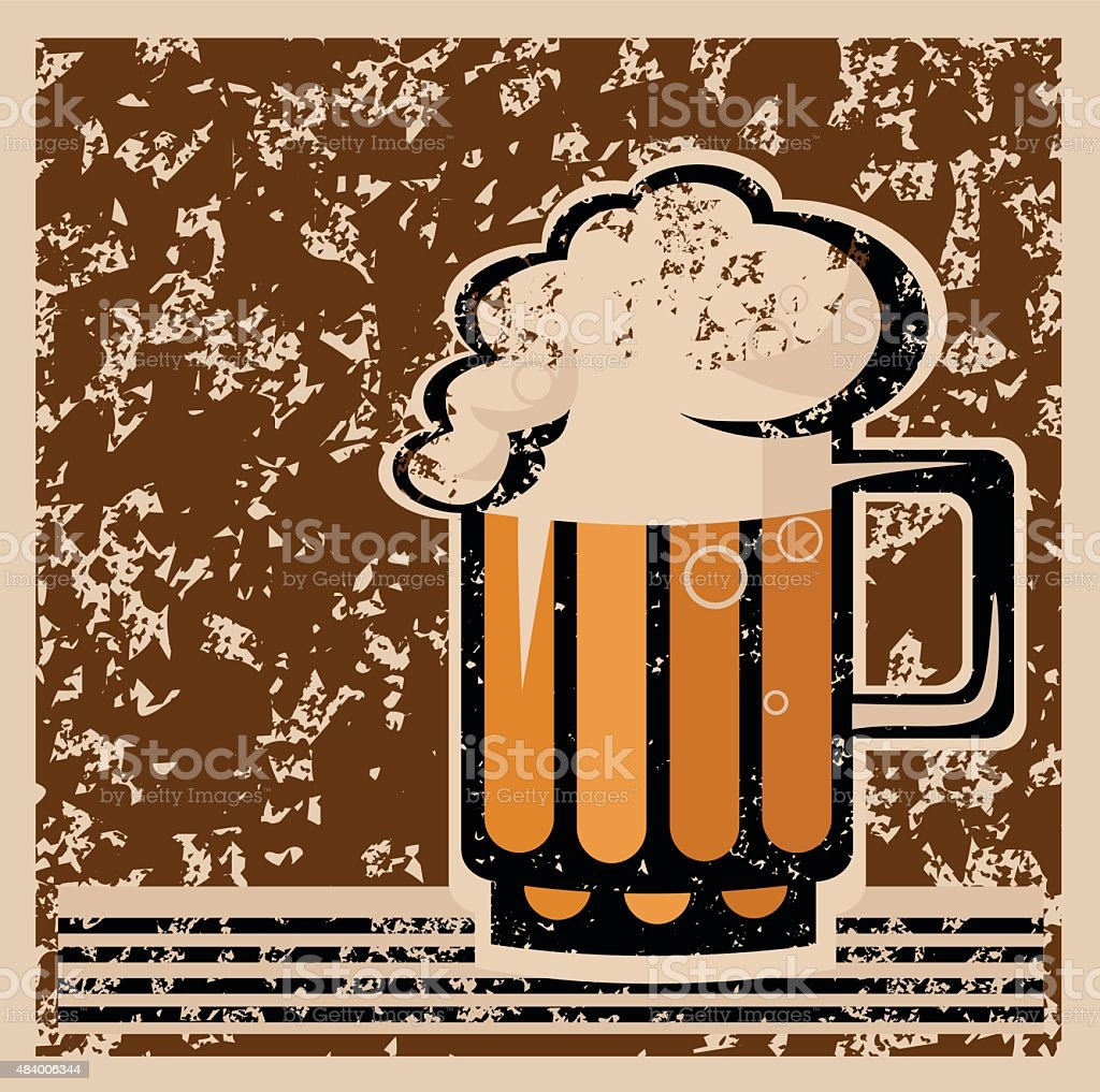 Retro Beer Poster Royalty Free Stock Vector Art