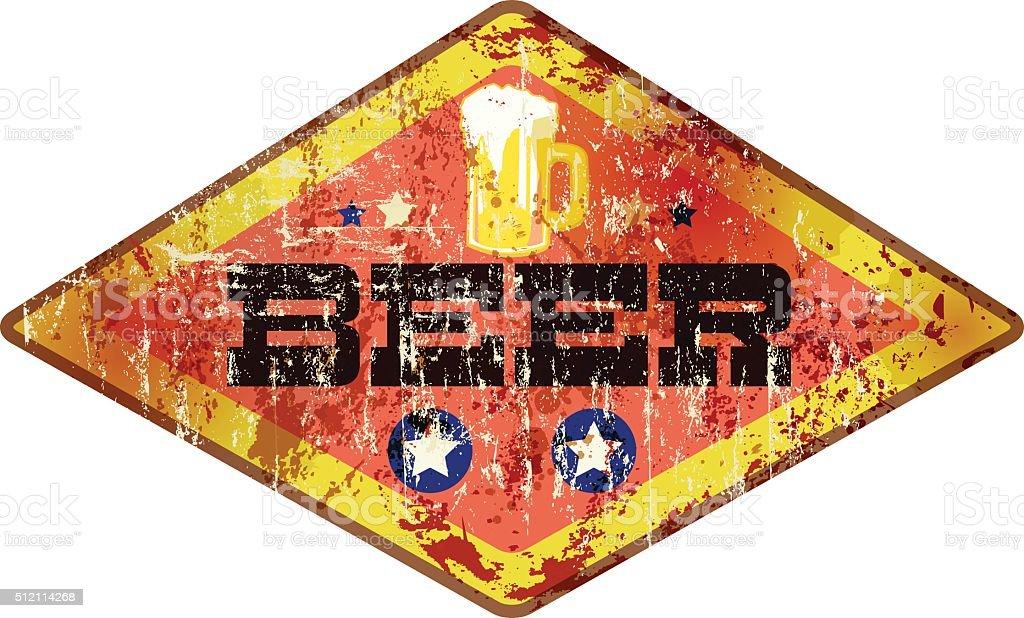 Retro Bier Zeichen – Vektorgrafik