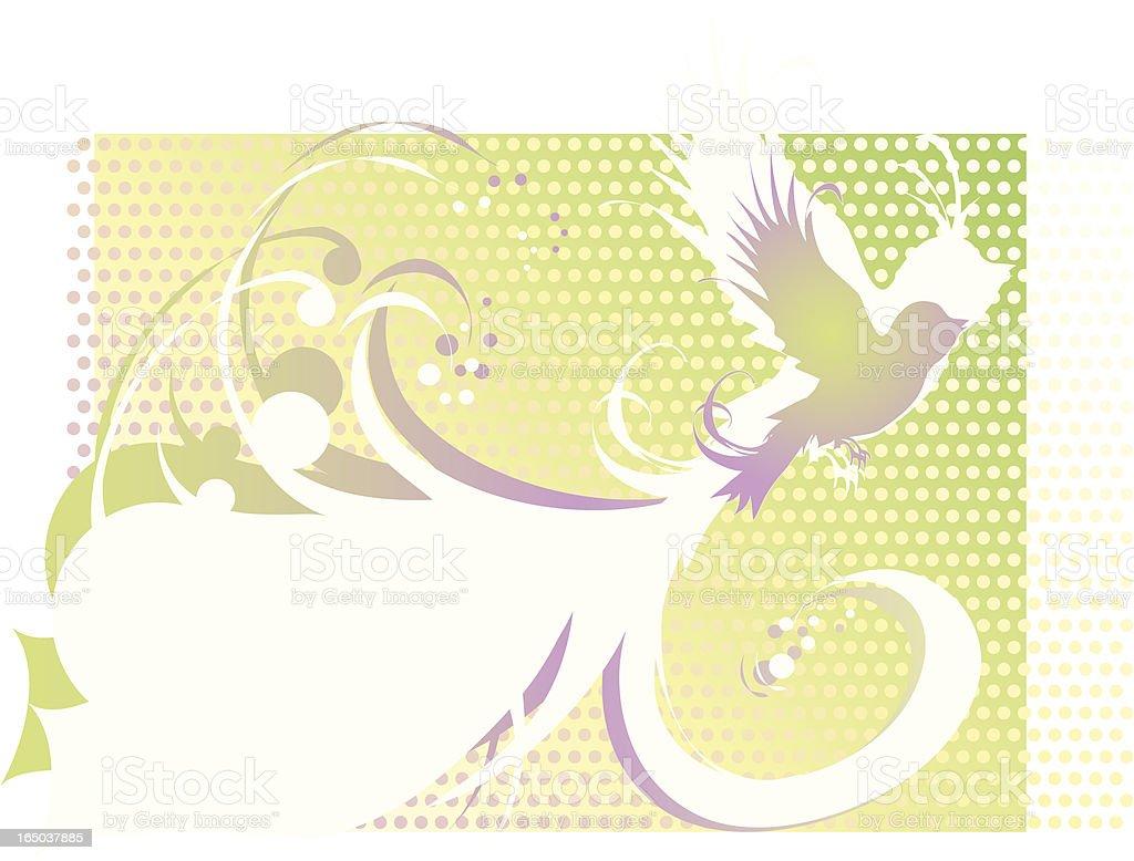 Retro bird royalty-free stock vector art