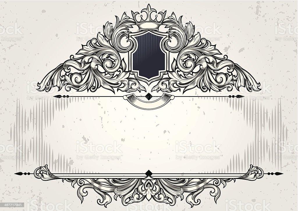 Retro blank emblem royalty-free stock vector art