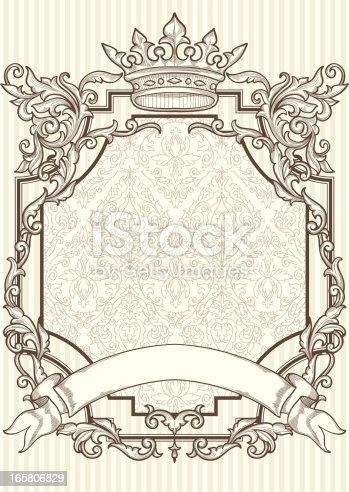 istock Retro blank frame 165806829