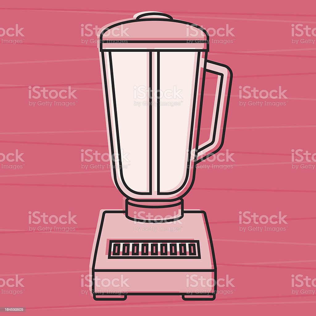 Retro Blender royalty-free stock vector art