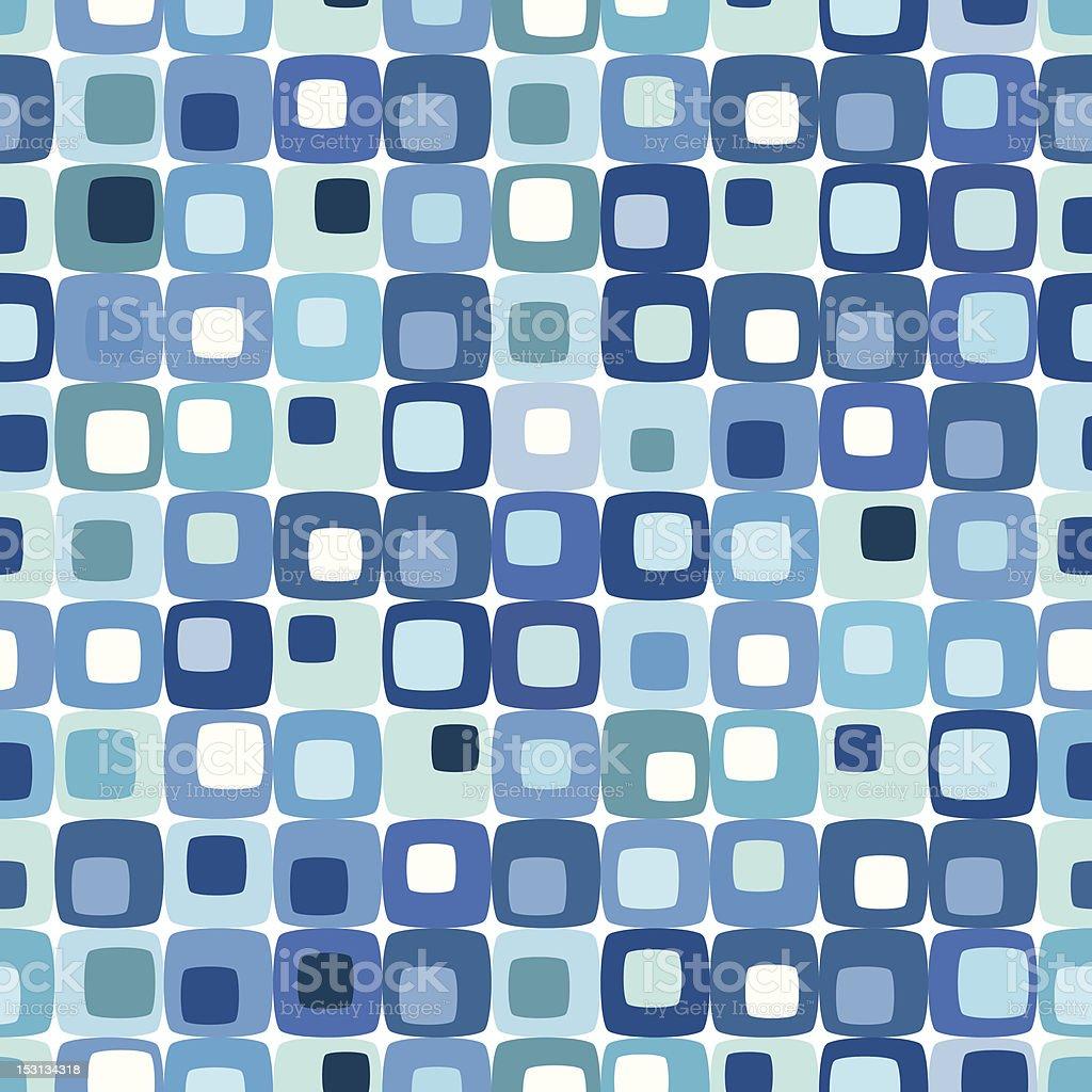 Retro blue tiled background pattern vector art illustration