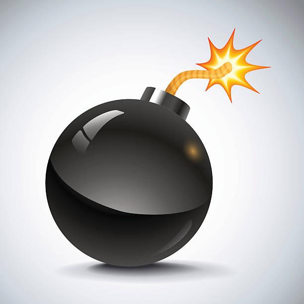 retro bomb illustration of a black retro bomb explosive fuse stock illustrations