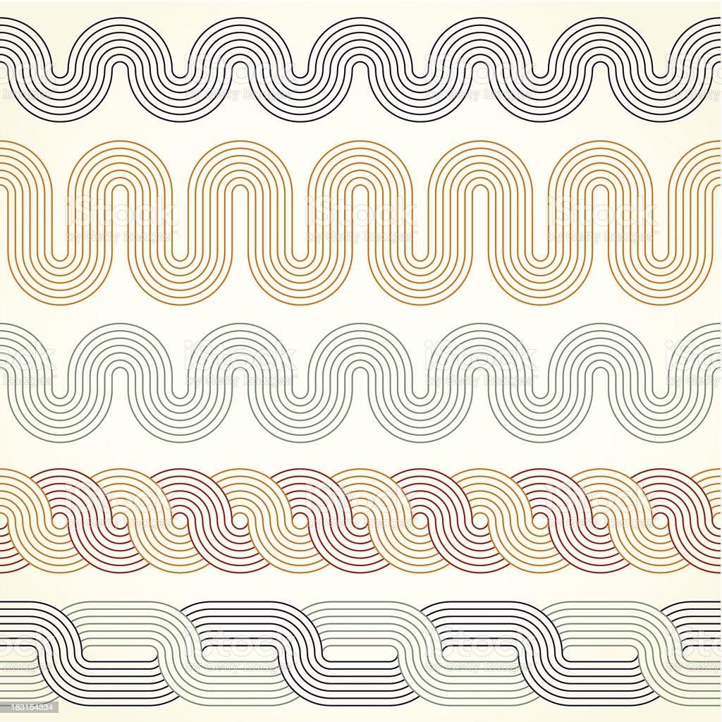 Retro borders vector art illustration