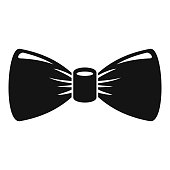 Retro bow tie icon, simple style