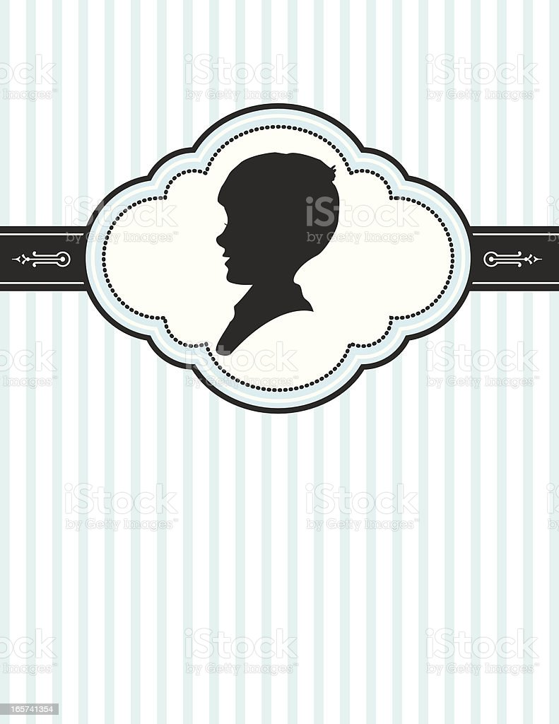 Retro Boy Silhouette vector art illustration