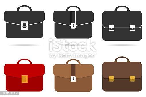 istock Retro briefcase 863583338