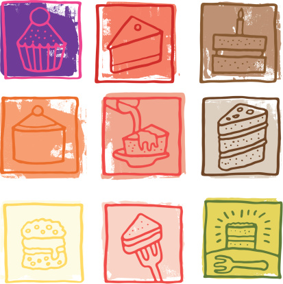 Retro cake prints
