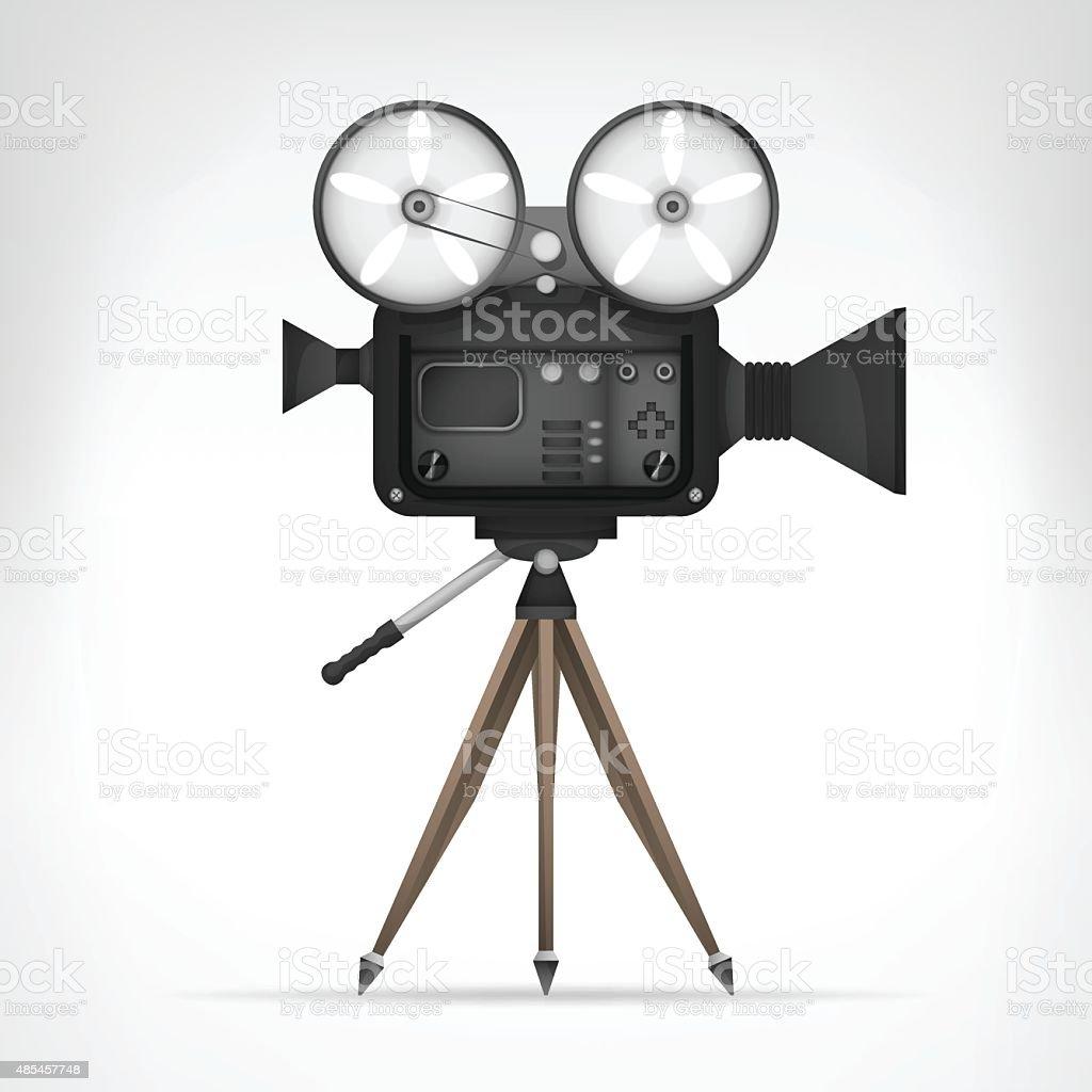 retro camera object 3D design isolated vector art illustration