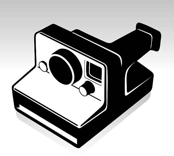 Retro Camera vector art illustration