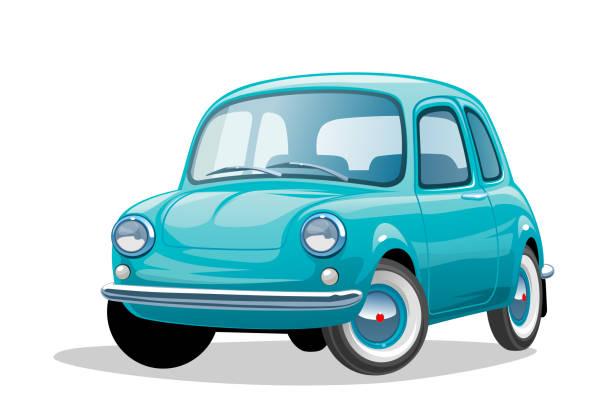 Retro car Illustration of a Retro car. EPS10 blue clipart stock illustrations
