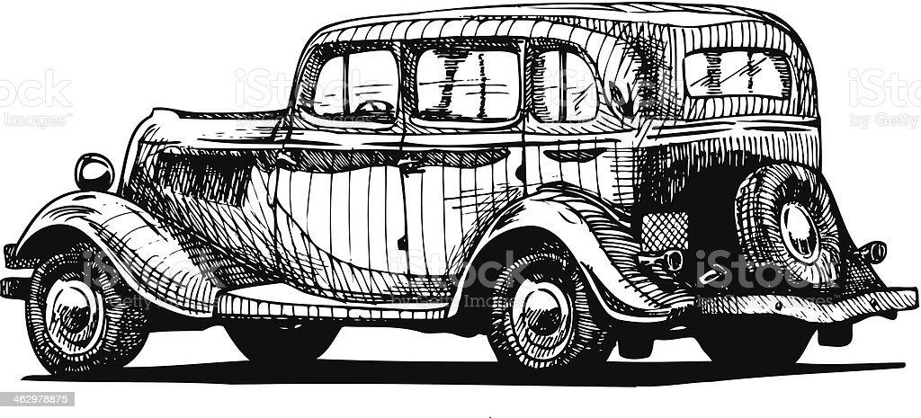 retro car royalty-free stock vector art