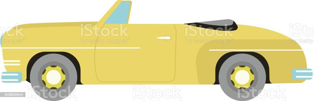 Retro car vector isolated vector art illustration