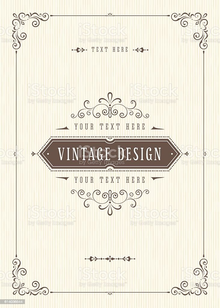 Retro Card Design vector art illustration