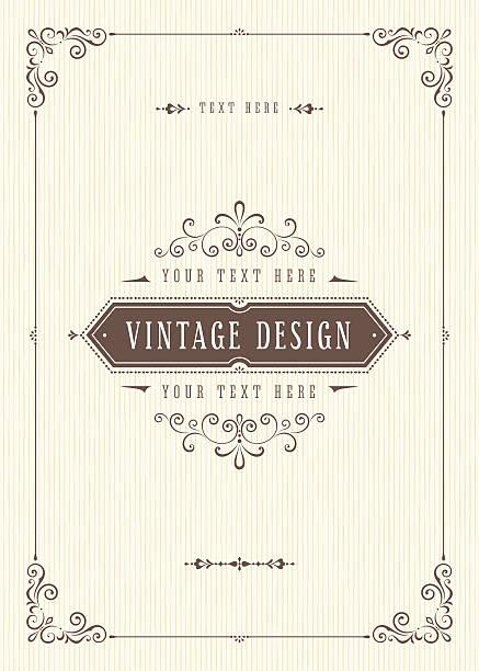 retro card design - papierdekoration stock-grafiken, -clipart, -cartoons und -symbole