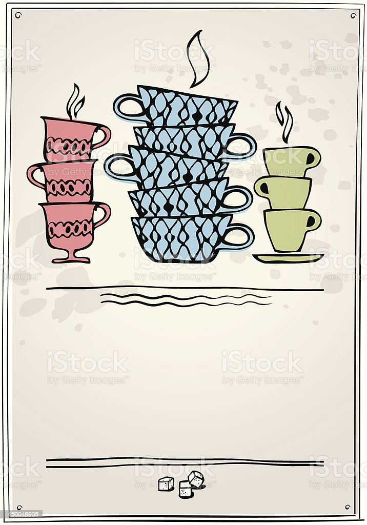 retro card with cup royalty-free stock vector art