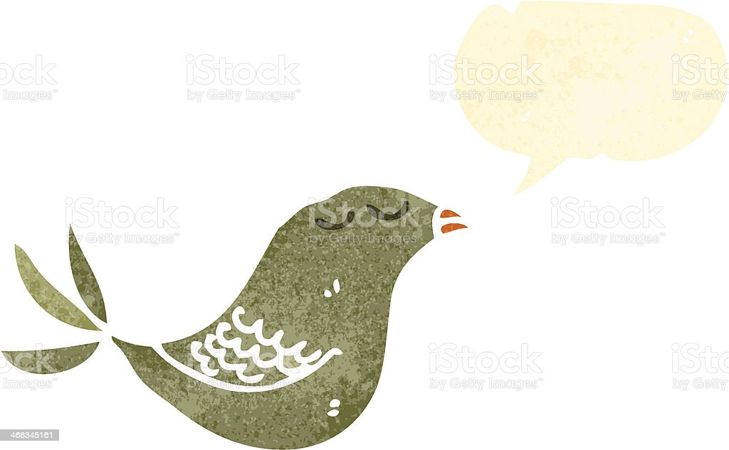 retro cartoon bird with speech bubble royalty-free retro cartoon bird with speech bubble stock vector art & more images of animal